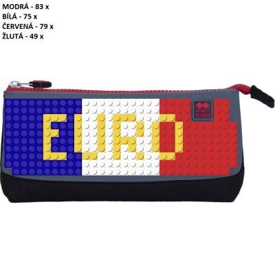 Kreativní pixelový školní penál UEFA EURO 2016 FRANCE šedá/černá PXA-01-L23