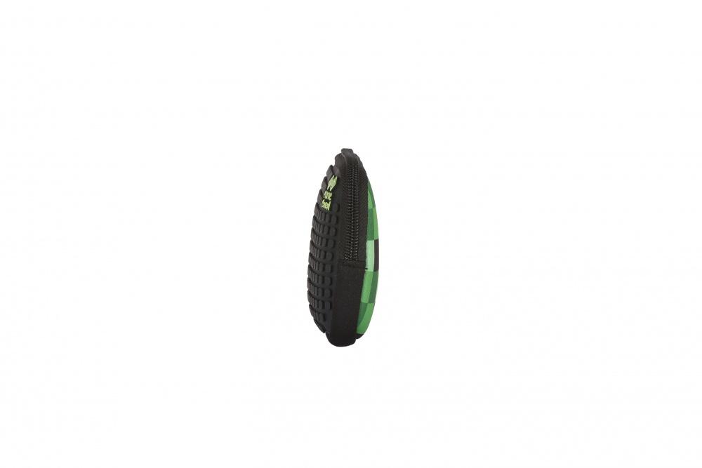 Kreativní pixelové pouzdro PIXIE CREW zelená kostka/černá PXA-08-04