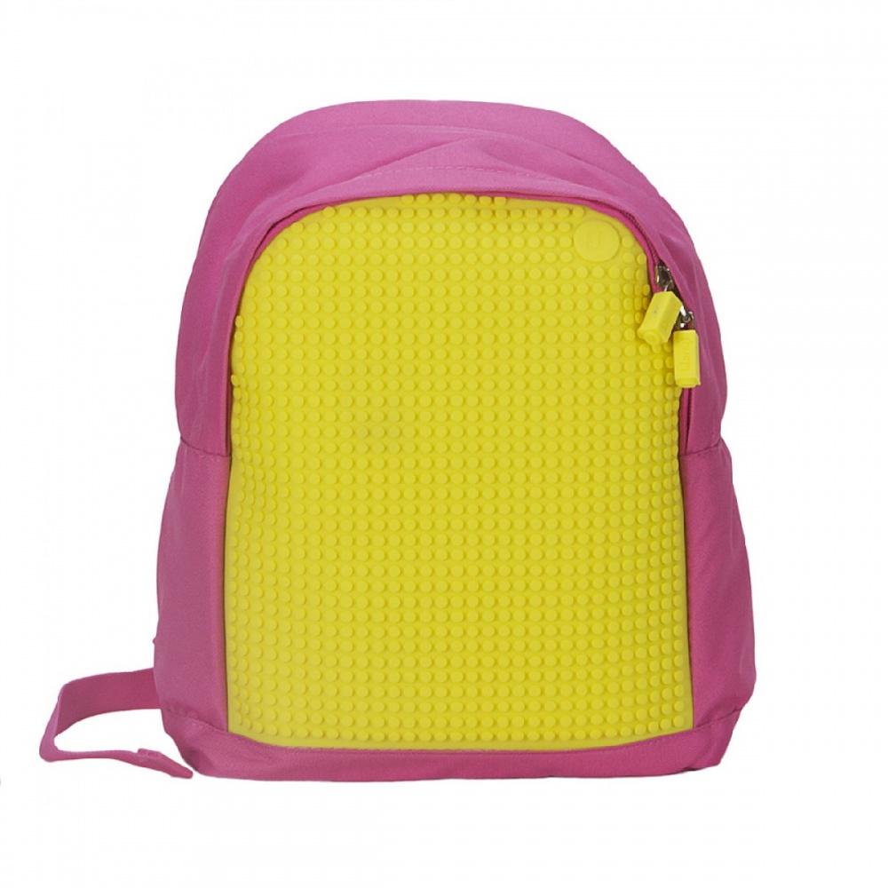 Kreativní pixelový dětský batoh růžový žlutý A012 9032bbc095
