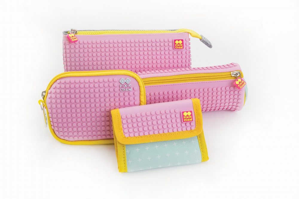Kreativní pixelová peněženka PIXIE CREW růžová plusy PXA-10-13