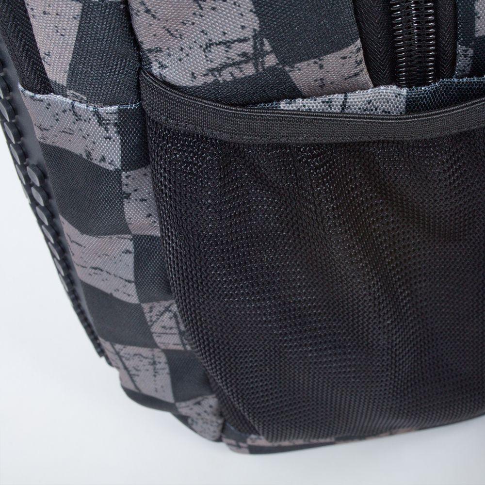 0c3670c2d81 Školní kreativní pixelový batoh s penálem šedá kostka šedá PXB-16-07 ...