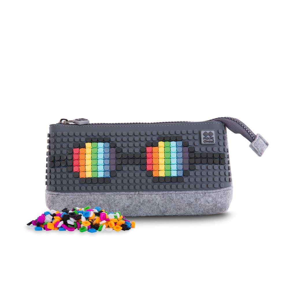... Kreativní pixelový školní penál šedo šedá PXA-01-W23 ... ecba902279