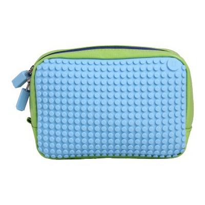 Kreativní pixelová příruční taška Pixelbags zelená/modrá B003