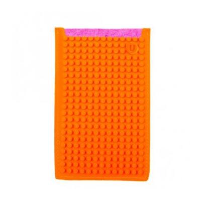 Kreativní pixelové pouzdro na mobil velké Pixelbags fuchsiovo oranžové B008