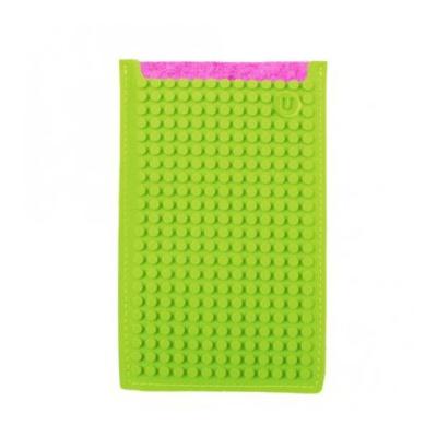 Kreativní pixelové pouzdro na mobil Pixelbags fuchsiovo zelené B009