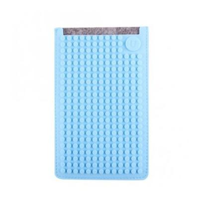 Kreativní pixelové pouzdro na mobil Pixelbags šedo modré B009