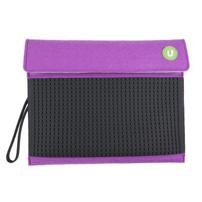 Kreativní pixelový obal na tablet Pixelbags fialovo černý B010