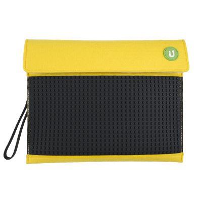 Kreativní pixelový obal na tablet Pixelbags žluto černý B010