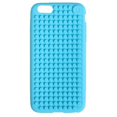 Kreativní pixelový obal na mobil Iphone 6 modrý C006