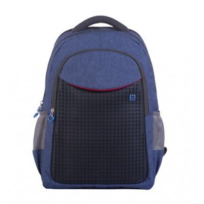 Školní kreativní pixelový batoh modrý PXB-05-E24
