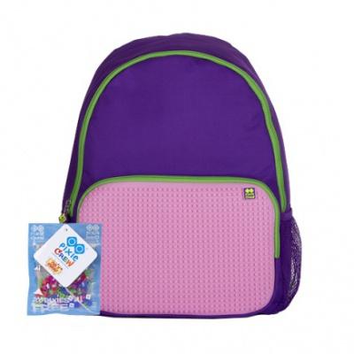 Volnočasový kreativní pixelový batoh fialovo růžový PXB-01-F17