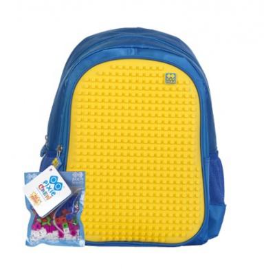 Dětský kreativní pixelový batoh modro žlutý PXB-07-E04