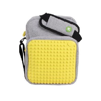 Kreativní pixelová taška přes rameno malá žlutá A008