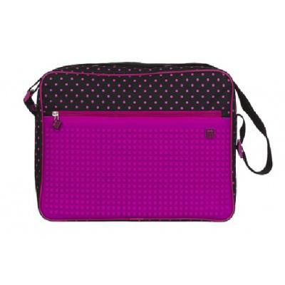 Kreativní pixelová taška přes rameno černá růžová PXB-04-L15