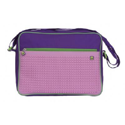 Kreativní pixelová taška přes rameno fialová růžová PXB-03-F17