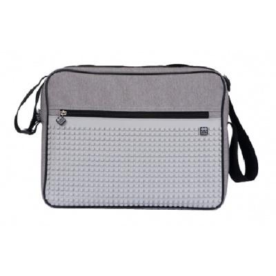 Kreativní pixelová taška přes rameno šedá PXB-03-K22
