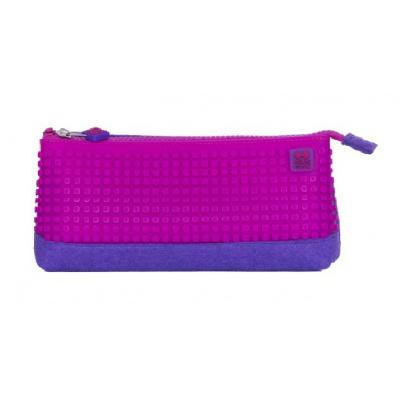 Kreativní pixelový školní penál fialová/růžová PXA-01-F15