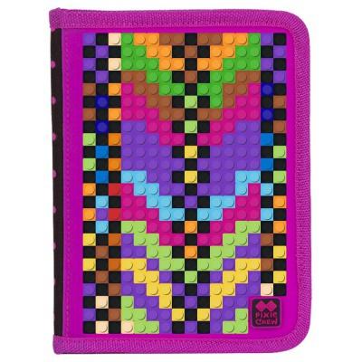 Kreatívny pixelový školský peračník fuchsiová/čierna PXA-04-L15