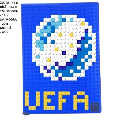 Kreativní pixelový diář s obalem UEFA EURO 2016 modrý PXN-01-13