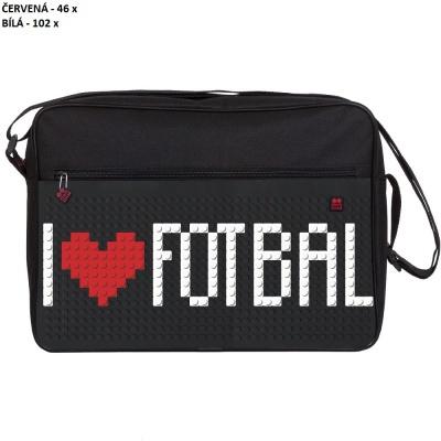 Kreativní pixelová taška přes rameno I♥FOTBAL UEFA EURO 2016 FRANCE černá PXB-03-L24