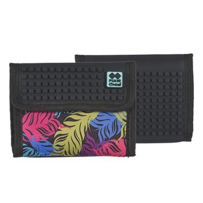Kreativní pixelová peněženka PIXIE CREW barevná pírka PXA-10-02