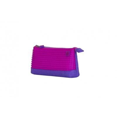 Kreatívny pixelový školský peračník fialovo ružový PXA-01-F15