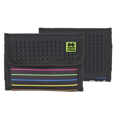 Kreativní pixelová peněženka PIXIE CREW barevné proužky PXA-10-06