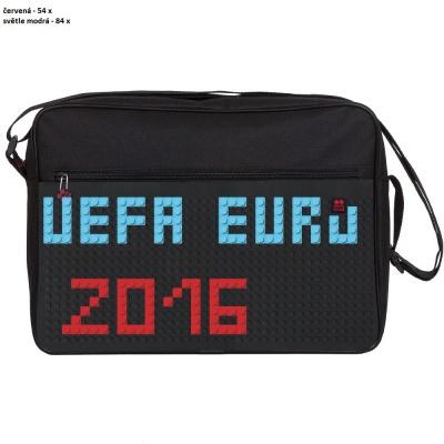 Kreativní pixelová taška přes rameno UEFA EURO 2016 černá PXB-03-L24