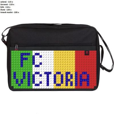 Kreativní pixelová taška přes rameno FC VICTORIA černá PXB-03-L24