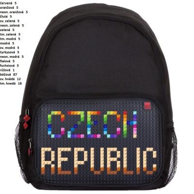 Volnočasový kreativní pixelový batoh CZECH REPUBLIC černý PXB-01-L24