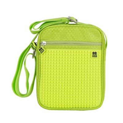 Kreativní pixelová taška přes rameno neonově zelená PXB-11-D05