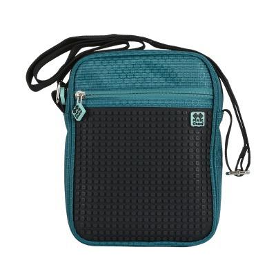 Kreativní pixelová taška přes rameno petrolejová PXB-11-M24