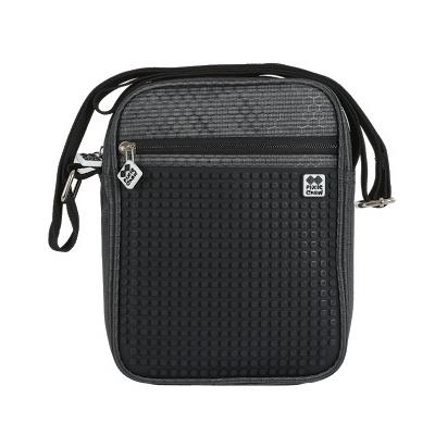 Kreatívna pixelová taška cez rameno čierna PXB-11-L24