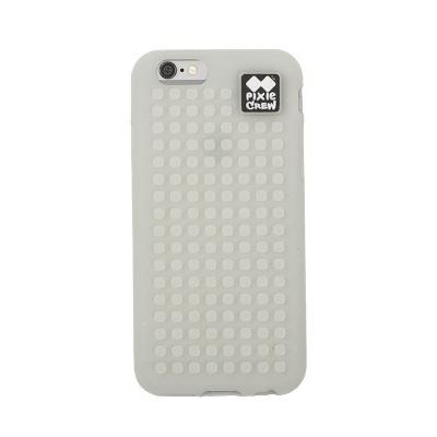 Kreativní pixelový obal na mobil iPhone 6 fosforový šedý PXT-02-98