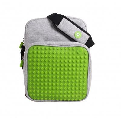 Kreativní pixelová taška přes rameno malá zelená A008