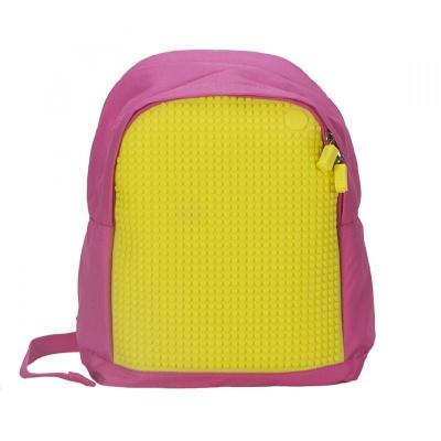 Kreativní pixelový dětský batoh růžový/žlutý A012
