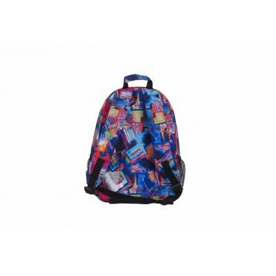 Volnočasový kreativní pixelový batoh vícebarevný/černý PXB-02-R24
