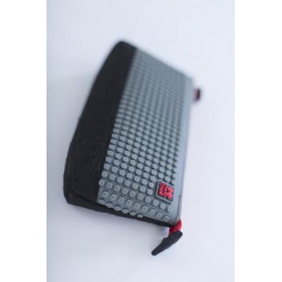 Kreativní pixelový školní penál šedá/černá PXA-01-L23