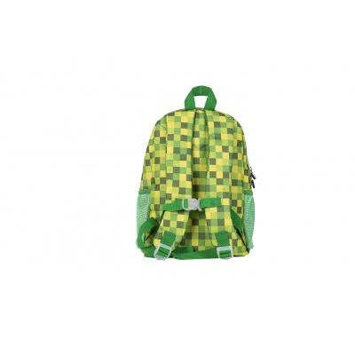 Detský kreatívny pixelový batoh zelená kocka/svietiaca v tme PXB-18-04