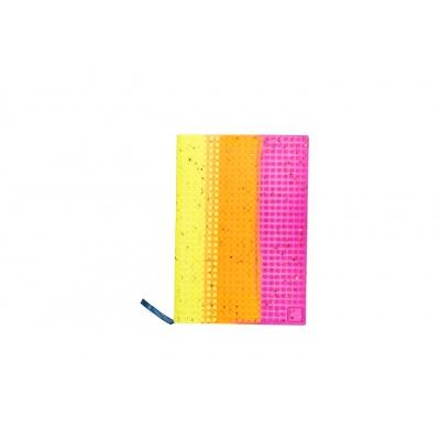 Kreativní pixelový diář s obalem žlutá oranžová fuchsiová PXN-01-99