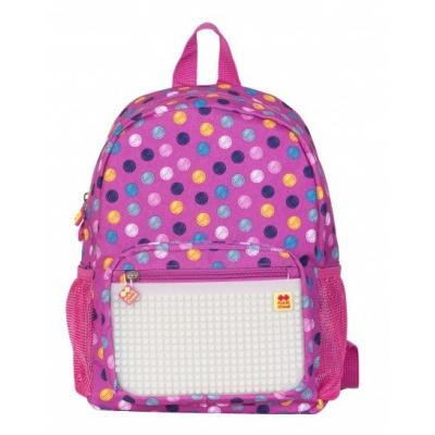 Detský kreatívny pixelový batoh farebné bodky/fosforová PXB-18-01