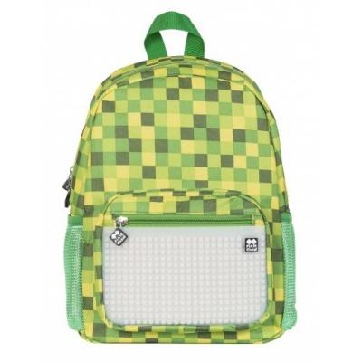 Dětský kreativní pixelový batoh zelená kostka/svítící ve tmě PXB-18-04