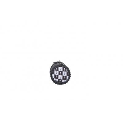 Kreativní pixelový školní penál kulatý PXA-06-KAKI