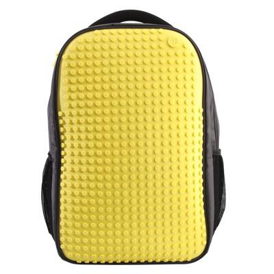 Školní kreativní pixelový batoh žlutý A009