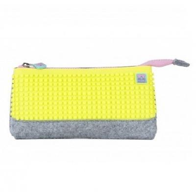 Kreativní pixelový školní penál neonově žlutá PXA-01-W05