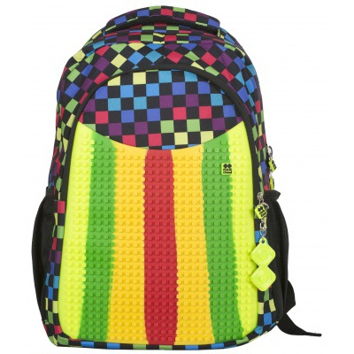 Školní kreativní pixelový batoh multibarevný PXB-02-16-01