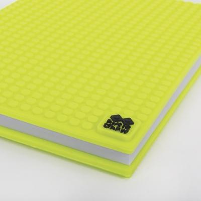 Kreativní pixelový diář s obalem neon žlutozelený PXN-01-05
