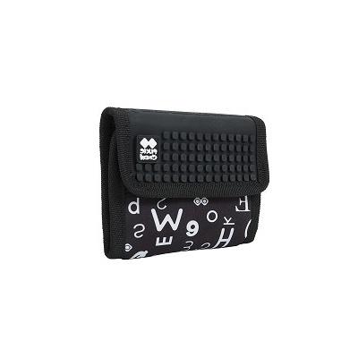 Kreativní pixelová peněženka PIXIE CREW černá abeceda PXA-10