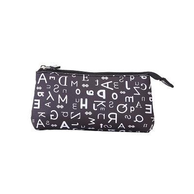 Kreativní pixelový školní penál černá abeceda PXA-02