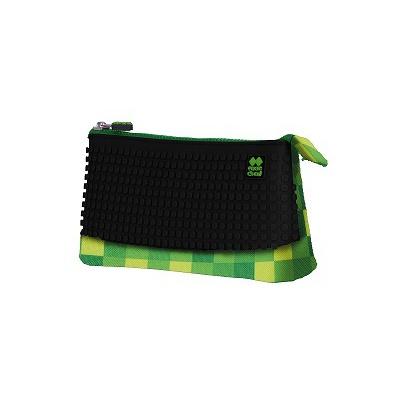 Kreativní pixelový školní penál zelená/černá PXA-02-D24
